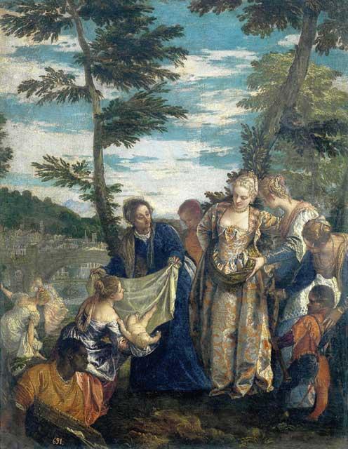 パオロ・ヴェロネーゼ 「 川から救われるモーセ」