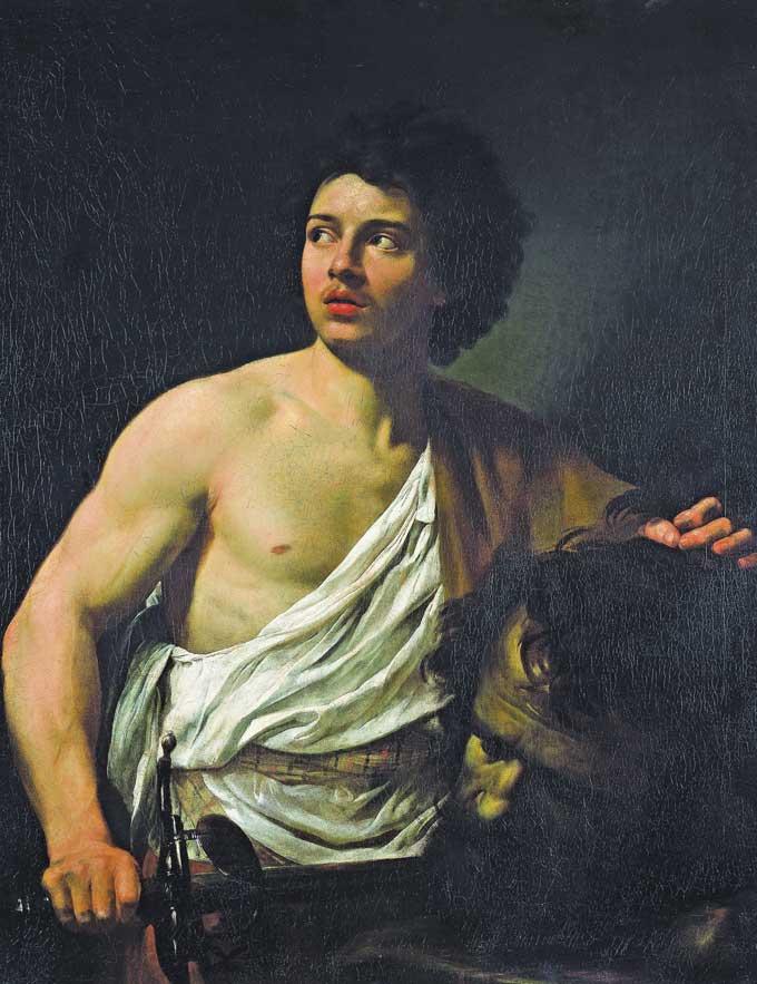 シモン・ヴーエ「ゴリヤテの首を取ったダビデ」