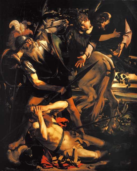 カラヴァッジオ「天からの光に照らされ、回心するパウロ」